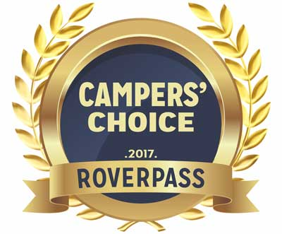 Campers Choice RoverPass Award - Dog Friendly Campground - Lemon Cover Campground RV Park